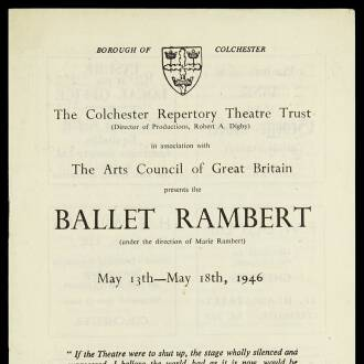 Colchester Repertory Theatre, May 1946