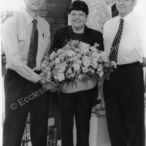 Gill Williams 25 Years of Service at Thomas & Holloway Opticians 1997 b