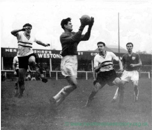 Hereford Utd at their Edgar Street ground, 1950s