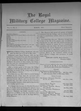 The Royal Military College Magazine