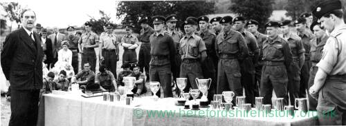 An army trophy presentation ceremony.