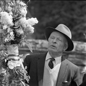 Man taking part in the Fownhope Flower Walk on 9 June 1969