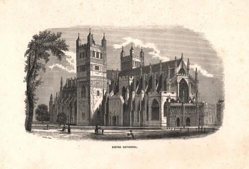 Exeter Cathedral, 1840, Exeter