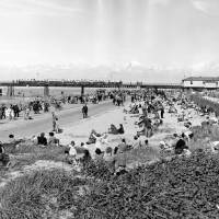 Southport Pier and beach, c1950