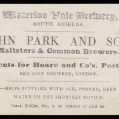 John Park and Son, Waterloo Vale Brewery