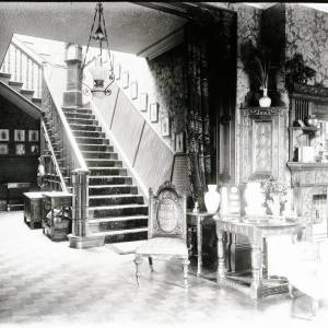 Westhill House, hall and stairs