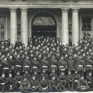 """A"" Company, 7th Battalion, Royal Berkshire Regiment, Shire Hall, The Forbury, Reading, 1915."