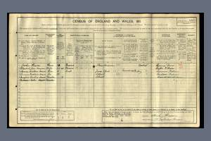1911 Census - 98 Taybridge Road, Battersea