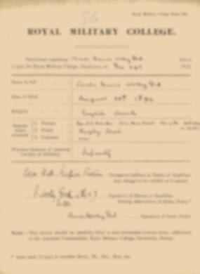 RMC Form 18A Personal Detail Sheets Jan 1915 Intake - page 380