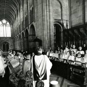 The choir at Hereford Cathedral