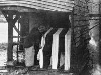 Morris & Co. Merton Abbey: Washing chintz in the Wandle