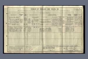 1911 Census - 15 Tramway Terrace, Mitcham