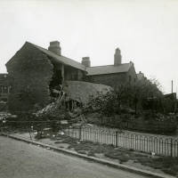 Bedford Road, bomb damage, Blitz