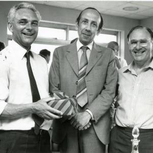 RG1889 Three men with wrapped gifts, 21st July 1983.jpg