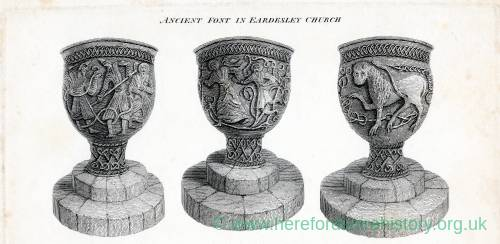Eardisley Church, font