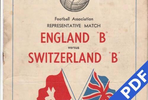 19500122 England B v Switzerland