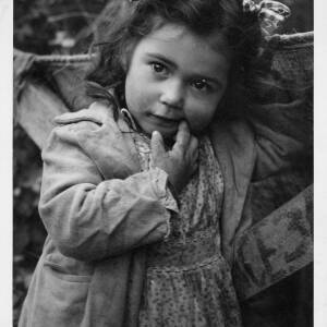 """420 - Young girl chewing finger """"Gypsy Child"""""""