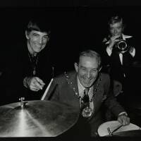 Louie Bellson, Frank Clayton (Welwyn Hatfield Council Chairman) and Bill Berry (left to right)