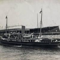 Opening of Gladstone Dock, yacht Galatea berthing