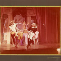 Photograph - two unknown performers on stage
