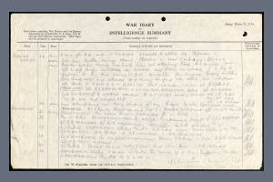 War Diary extract for 23 April 1918, for the 2nd Battalion, Lancashire Fusiliers