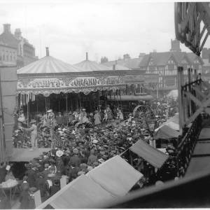 Hereford High Town. Probably May Fair, c.1895-1905
