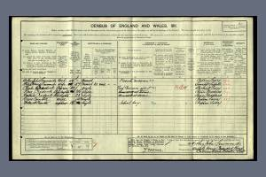 1911 Census for Walpole House, 17 Cavendish Road, Colliers Wood
