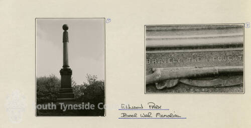 Carr Ellison Park Boer War Memorial