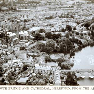 Hereford Cathedral, aerial view