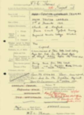 RMC Form 18A Personal Detail Sheets Feb & Sept 1933 Intake - page 293