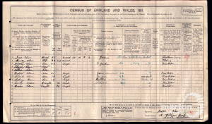 1911 Census - 18 William Road, South Wimbledon