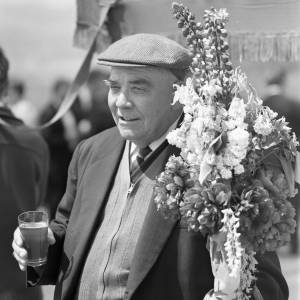 Gentleman Enjoying the Fownhope Flower Walk, 1969