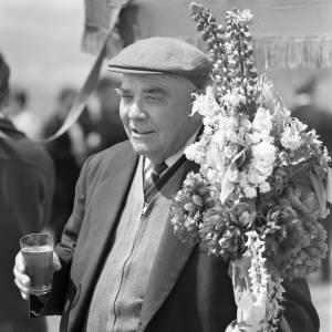 Gentleman Enjoying the Fownhope Flower Walk, 1969