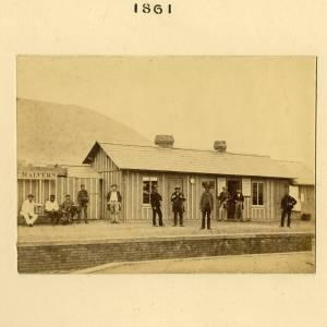 Great Malvern Station, 1861