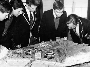 Mitcham County Grammar School for Boys: with model of seaside town