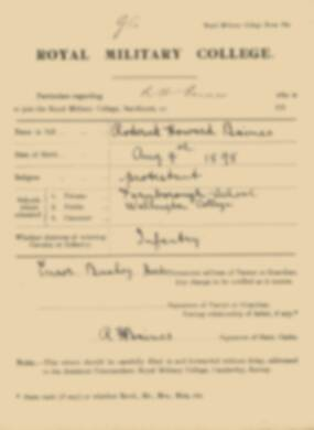 RMC Form 18A Personal Detail Sheets Jan 1915 Intake - page 12