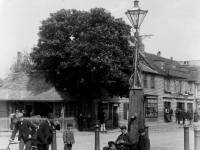 Fair Green, Mitcham: village pump at Collbran's Corner