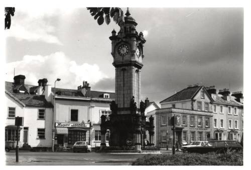 Clock tower, c1980, Exeter