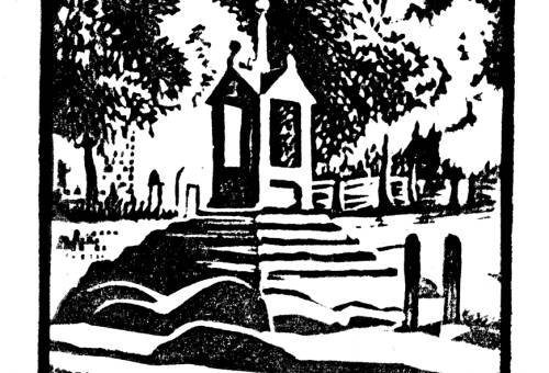 Lymm Cross and stocks by Dorothea Rowlinson