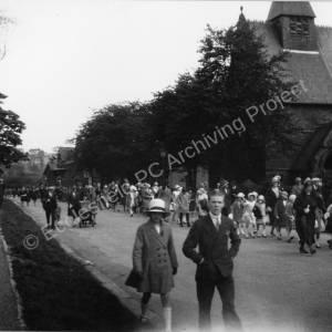 Mortomley Lane Whitsuntide parade.