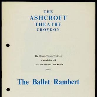 Ashcroft Theatre, Croydon, September 1965