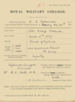 RMC Form 18A Personal Detail Sheets Jan 1915 Intake - page 60