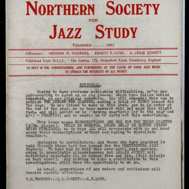 Northern Society For Jazz Study Vol.1 No.4 0001