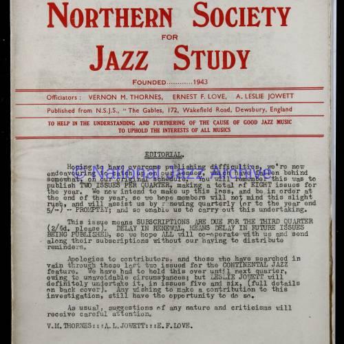 Northern Society For Jazz Study Vol.1 No.4 0001