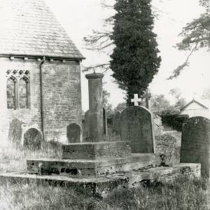 Ballingham church, cross, 1928