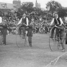 Penny Farthing Riders at Ingham Infirmary Sports Day