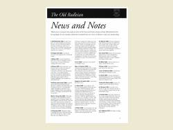 The Old Radleian News+Notes 2