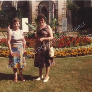 Ecclesfield French Trip 1981, Edith Kay (nee Blazey) & Mrs Dorothy Pease.
