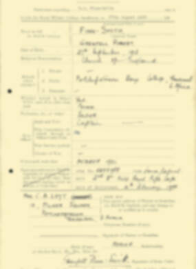 RMC Form 18A Personal Detail Sheets Aug 1935 Intake - page 74