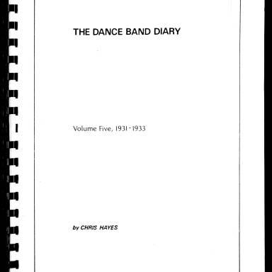 Dance Band Diaries Volume 5 1931-1933